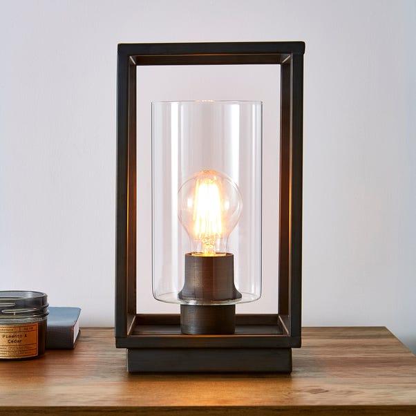 London Bronze Industrial Table Lamp Bronze