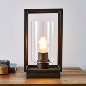 London Bronze Industrial Table Lamp