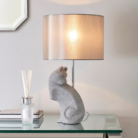 Prescilla Diamante Cat Table Lamp