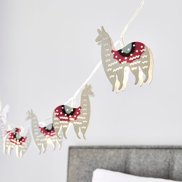 Llama 10 Light String Lights White