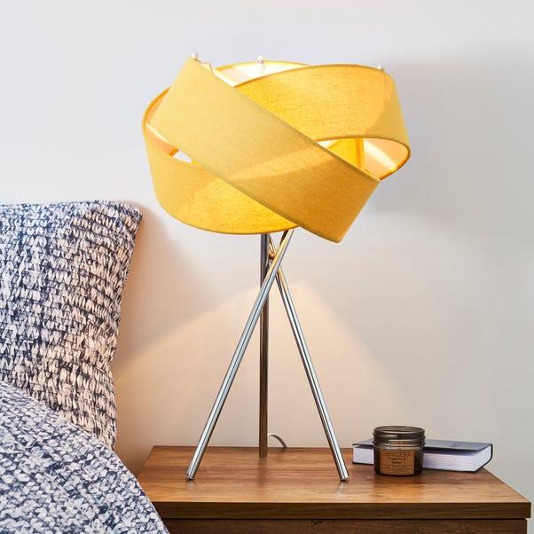 Elements Harley Ochre Table Lamp Ochre