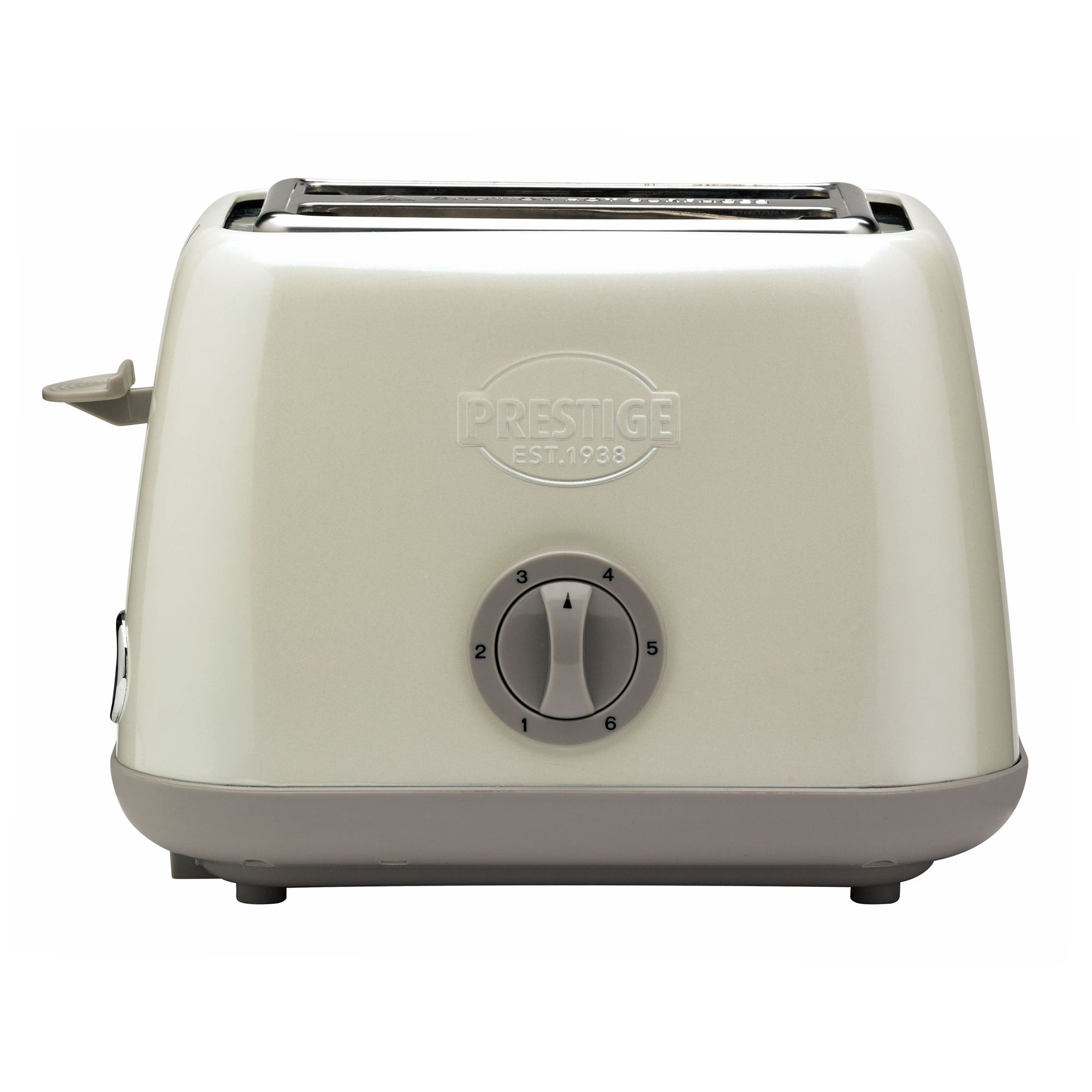 Prestige Heritage Almond 2 Slice Toaster White And Grey