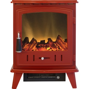 200W Aviemore Red Electric Stove