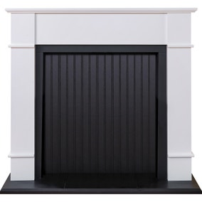 Oxford White Stove Fireplace