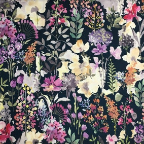 Aylesbury Fabric Navy Cotton Fabric