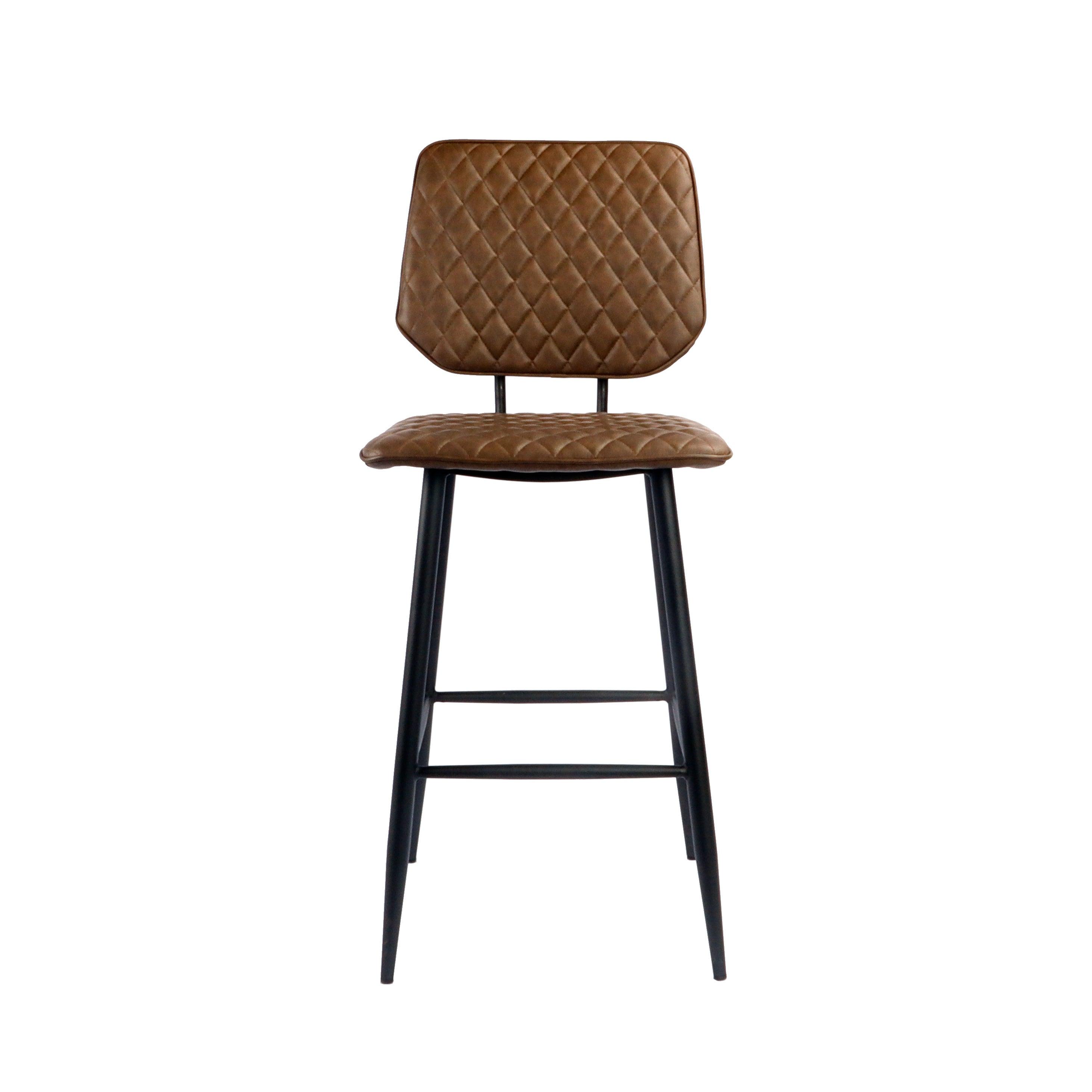 Austin Bar Stool Brown PU Leather Brown
