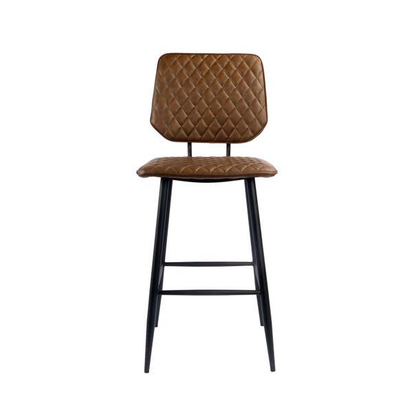 Austin Bar Stool Brown PU Leather
