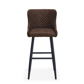 Montreal Bar Stool Brown PU Leather
