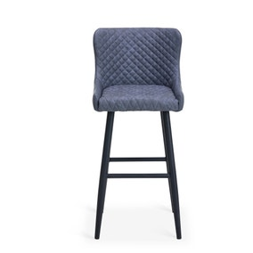 Montreal Bar Stool Grey PU Leather