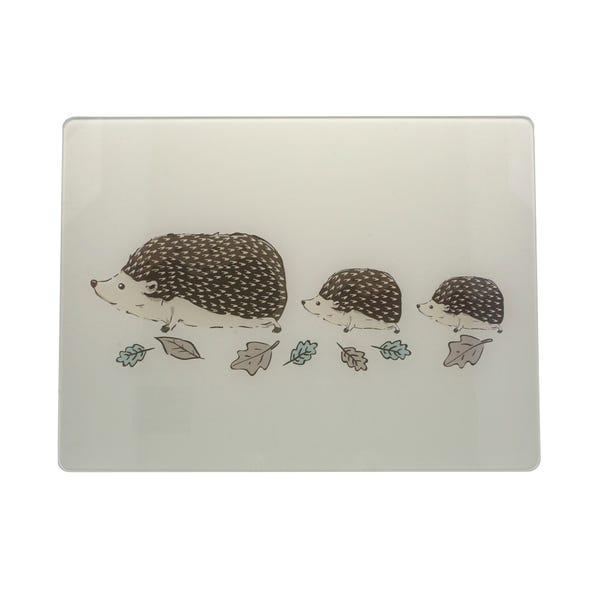 Hedgehog Glass Worktop Saver Brown