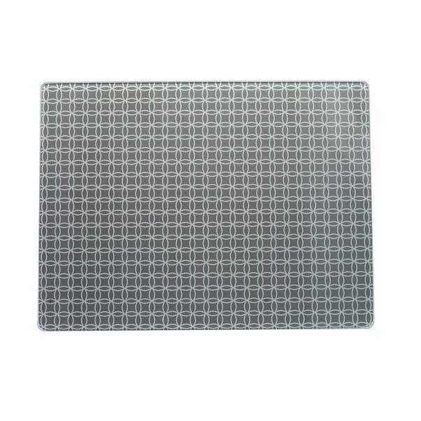 Geometric Glass Worktop Saver Grey