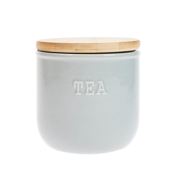 Embossed Grey Tea Canister Grey