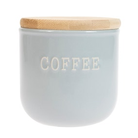 Embossed Grey Coffee Canister