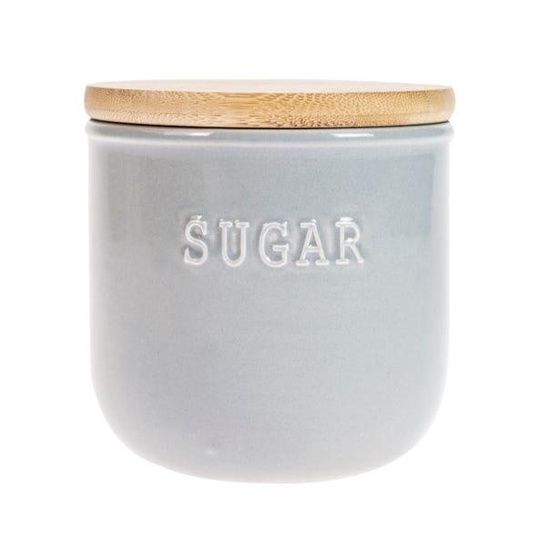 Embossed Grey Sugar Canister Grey