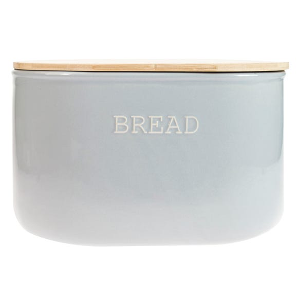 Embossed Grey Bread Bin Grey