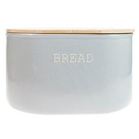 Embossed Grey Bread Bin
