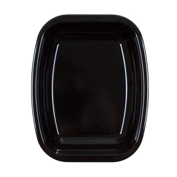 Dunelm 26cm Enamel Oven Roasting Dish Black