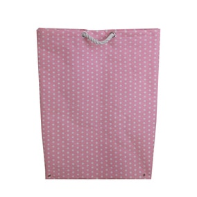 Pink Polka Dot Large Laundry Bag