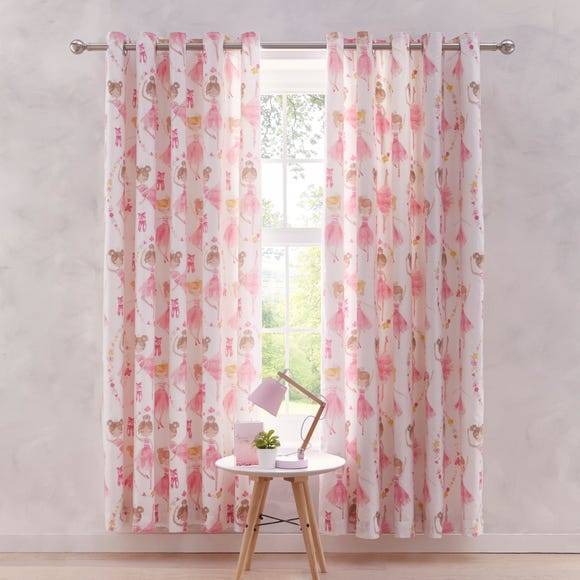 Ballet Eyelet Curtains Pink undefined
