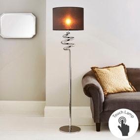 Etta Touch Dimmable Chrome Floor Lamp