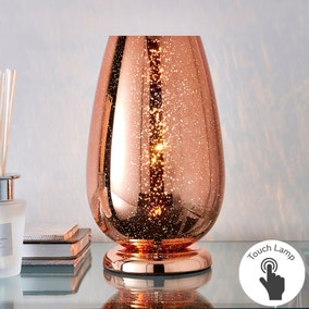 Ivy Copper Glass Table Lamp