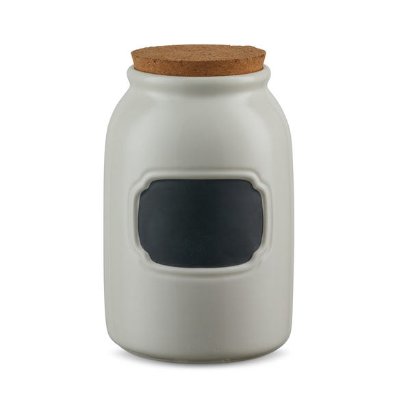 Chalkboard Cream Large Kitchen Canister Cream