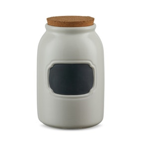 Chalkboard Cream Large Kitchen Canister