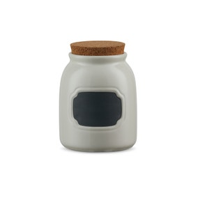 Chalkboard Cream Small Kitchen Canister