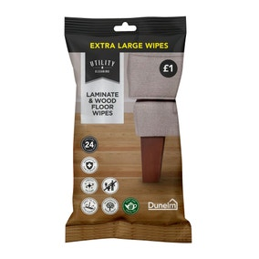 Pack of 24 Laminate And Wood Floor Wipes
