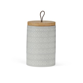 Geometric Taupe Kitchen Canister
