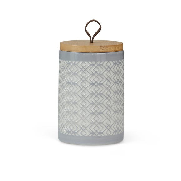Geometric Light Grey Kitchen Canister Grey