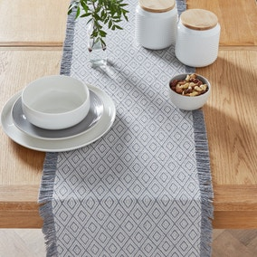 Oslo Grey Table Runner