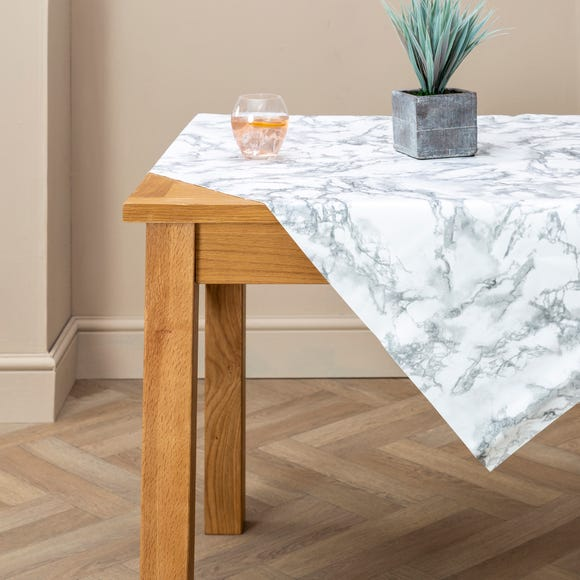 PVC Marble Tablecloth Black and white undefined