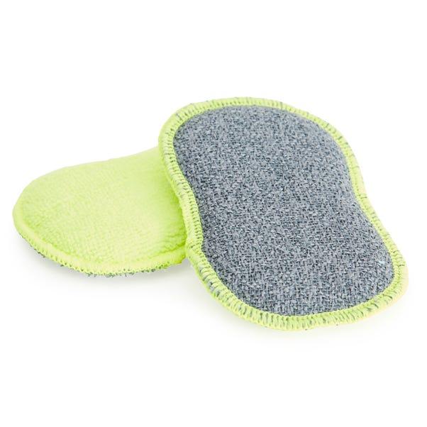 2 Scrubbing Sponges Green