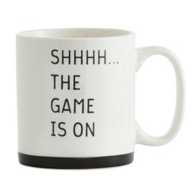 Oversized The Game Is On Mug