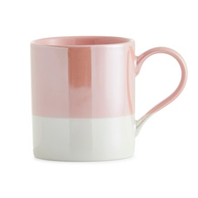 Dipped Lustre Pink Mug