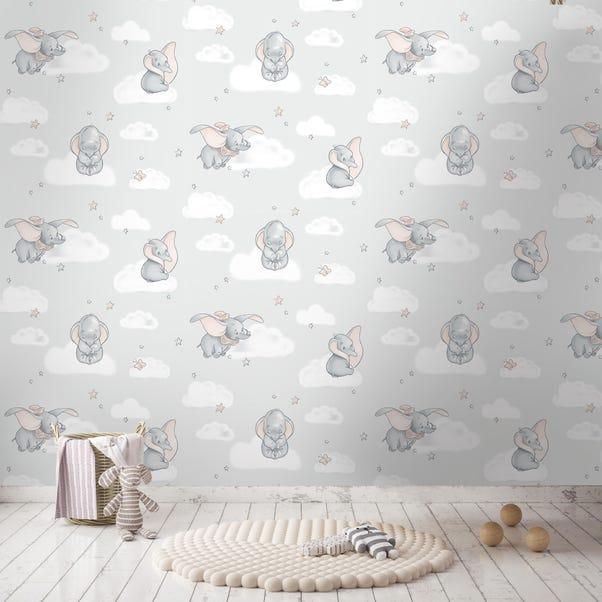 Disney Dumbo Wallpaper Grey