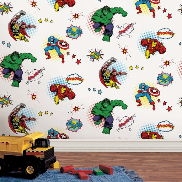 Disney Marvel Comics Wallpaper MultiColoured