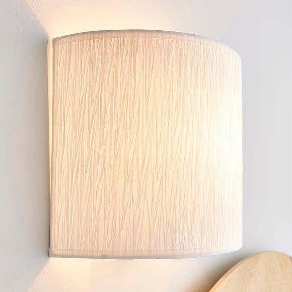 Taora Paper Ivory Shade Wall Light Ivory