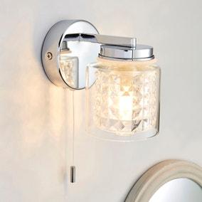 Hylton Glass Bathroom Wall Light