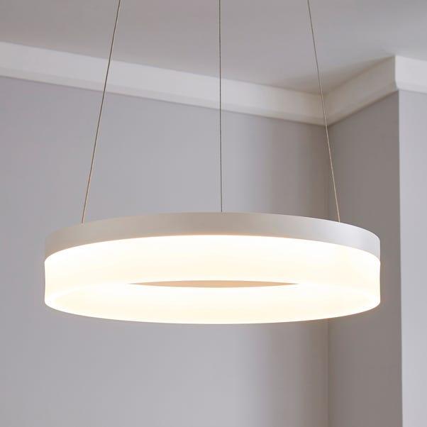 Mickie 1 Light Integrated LED Hoop White Ceiling Fitting White