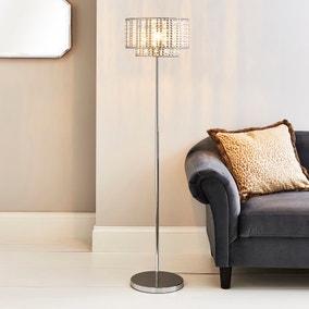 Monica Chrome Floor Lamp