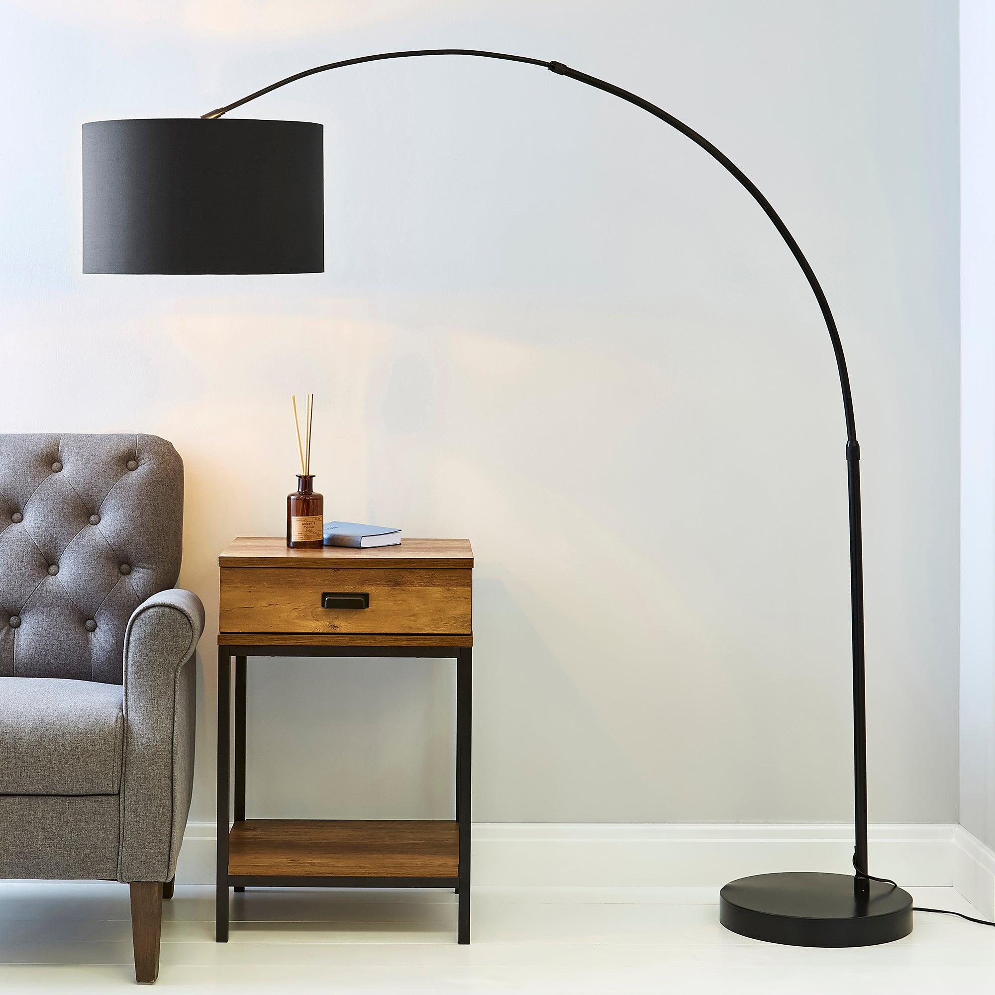 Damien Black Arc Floor Lamp Black