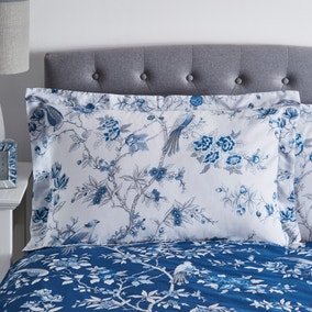 Oriental Bird Blue Oxford Pillowcase