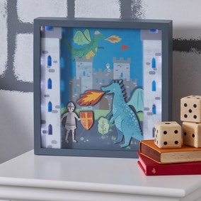 Knights and Dragons Light Up Box Frame