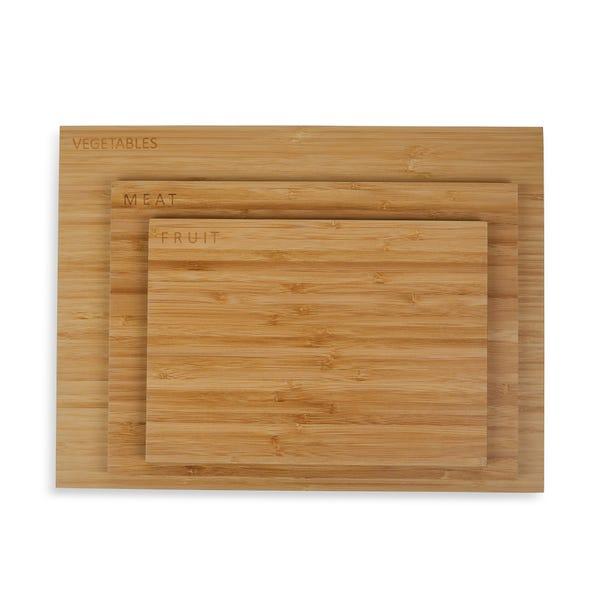 Set of 3 Bamboo Chopping Boards Natural