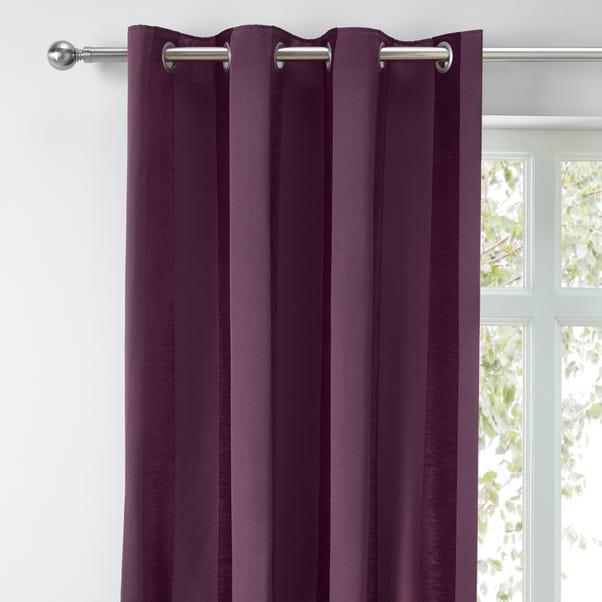 Parker Aubergine Chenille Eyelet Curtains  undefined