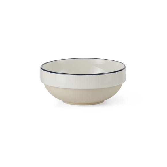 Apartment Navy Rim Cereal Bowl Navy