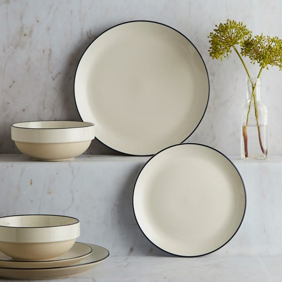 Apartment Navy Rim 12 Piece Dinner Set Navy