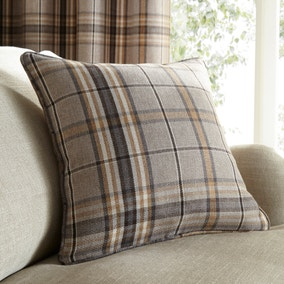 Melrose Natural Check Cushion
